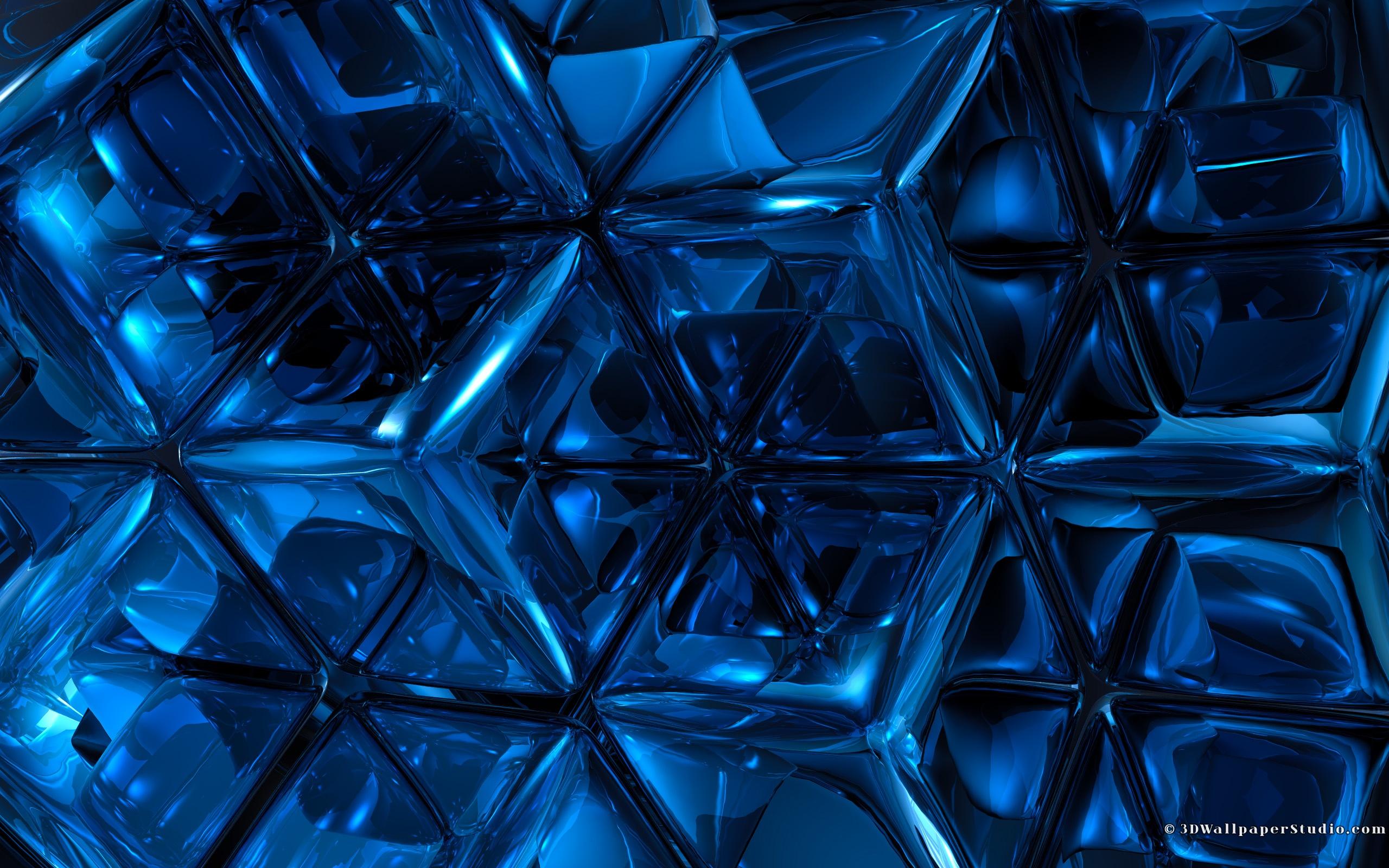3d Blue Wallpaper Backgrounds 3d Wallpaper Blue Abstract 2560x1600
