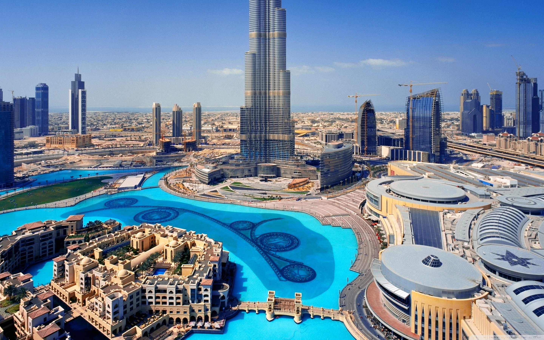 United Arab Emirates Skyscrapers Dubai Megapolis 4K HD Desktop 2880x1800