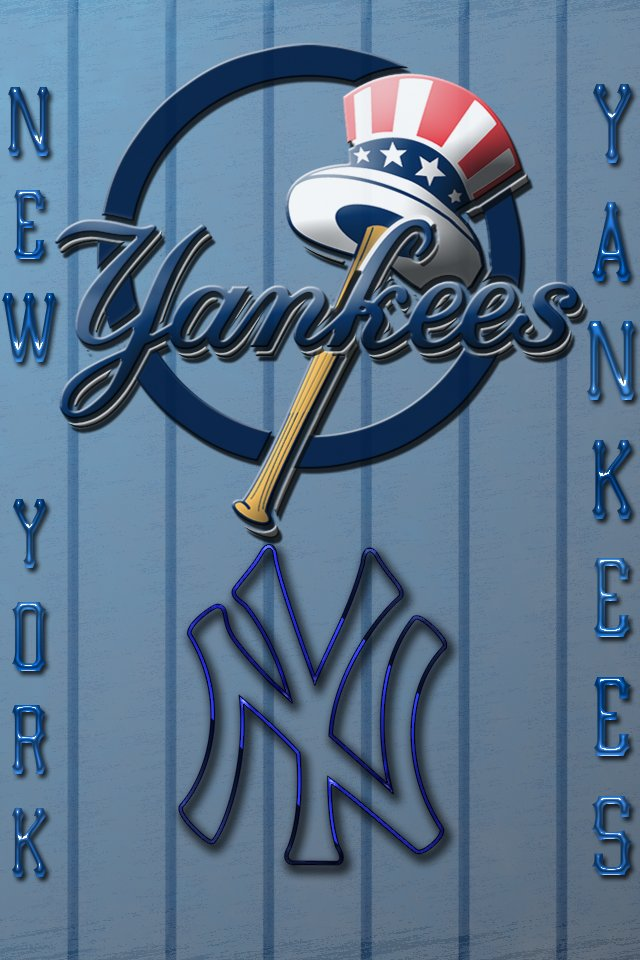 New York Yankees logos background for your iPhone download 640x960