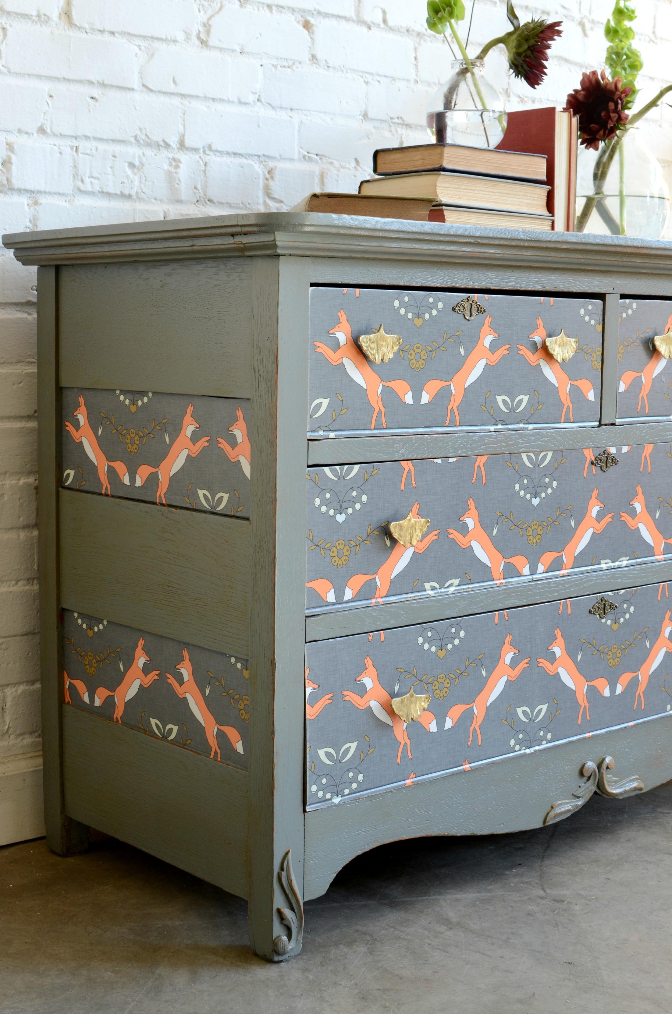 Dresser Upcycle DIY Home Decor Spoonflower Blog 2205x3329