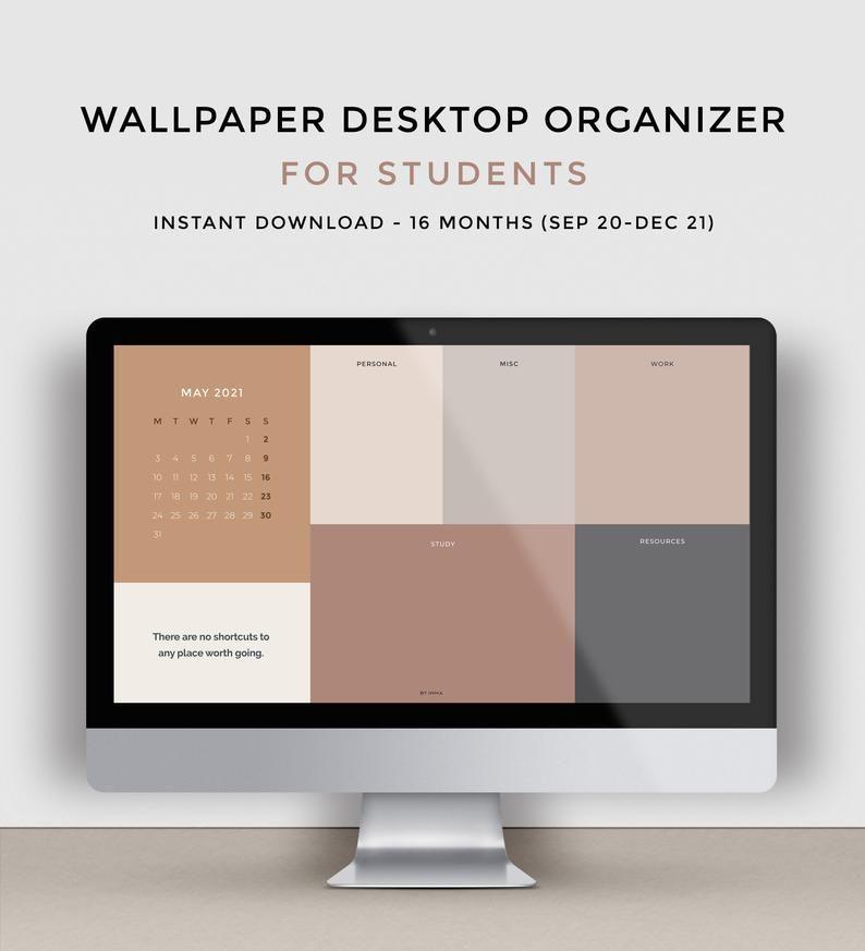 Desktop wallpaper organizer for students Minimalist wallpaper for 794x873