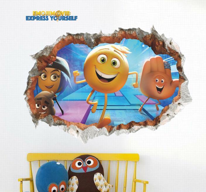 EMOJI Movie 3D Wall Decal Emoji Commotion 704x656
