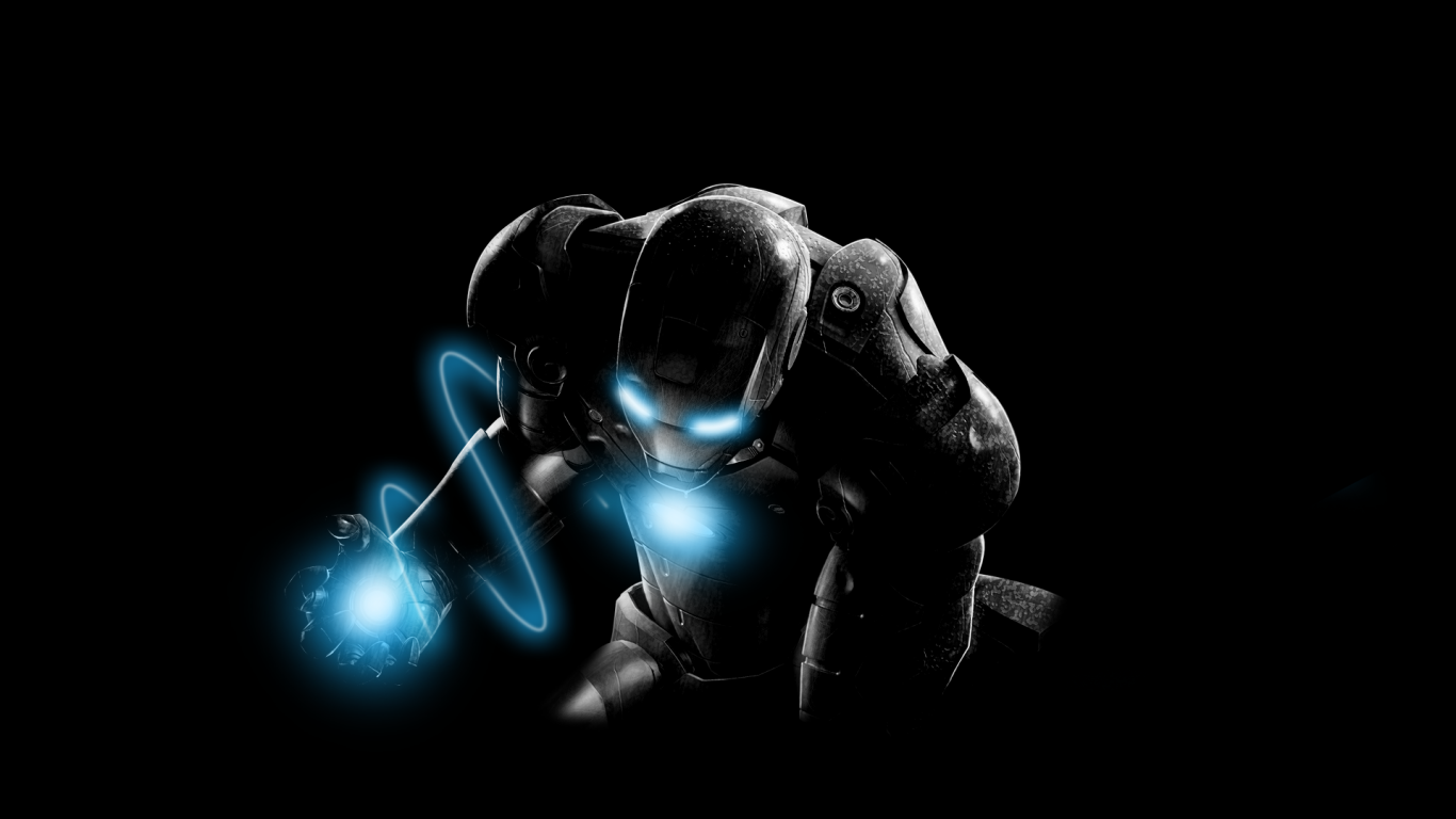 1366x768 Dark Iron Man desktop PC and Mac wallpaper 1366x768