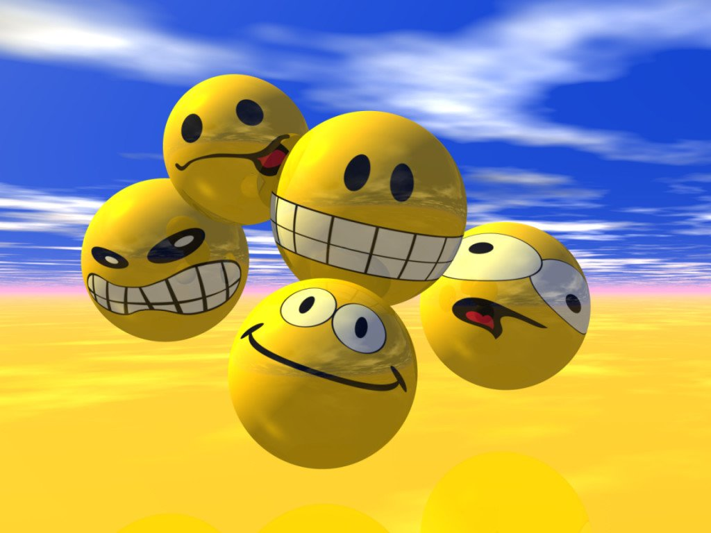 Smiley Face Wallpaper For Desktop 1024x768