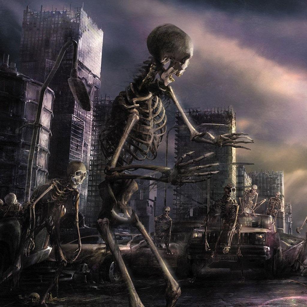 halloween skeleton wallpaper - photo #22