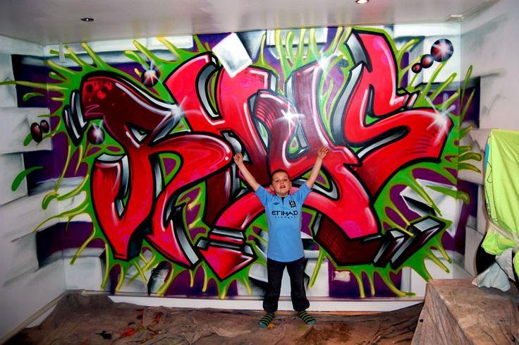 boys room Graffiti Bedrooms Bedrooms Murals Boys Bedrooms Murals 736x489