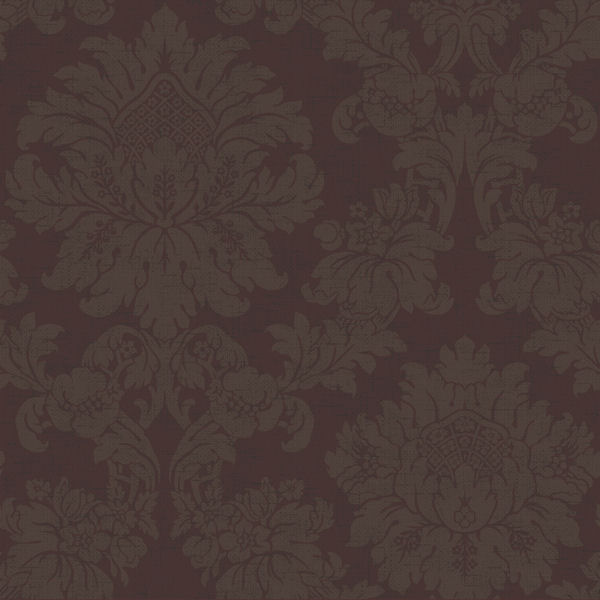 Brown on Burgundy Textured Damask Wallpaper   Wall Sticker Outlet 600x600