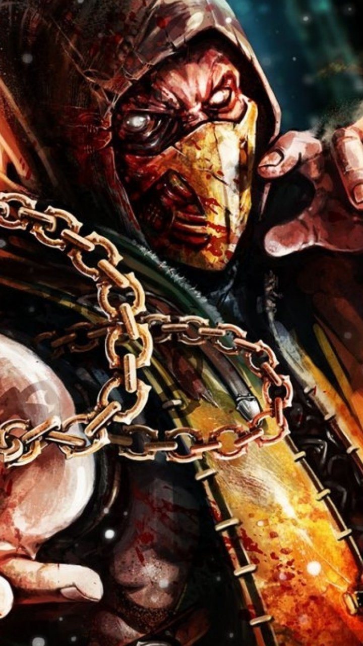 720x1280 Scorpion Mortal Kombat X Galaxy s3 wallpaper 720x1280