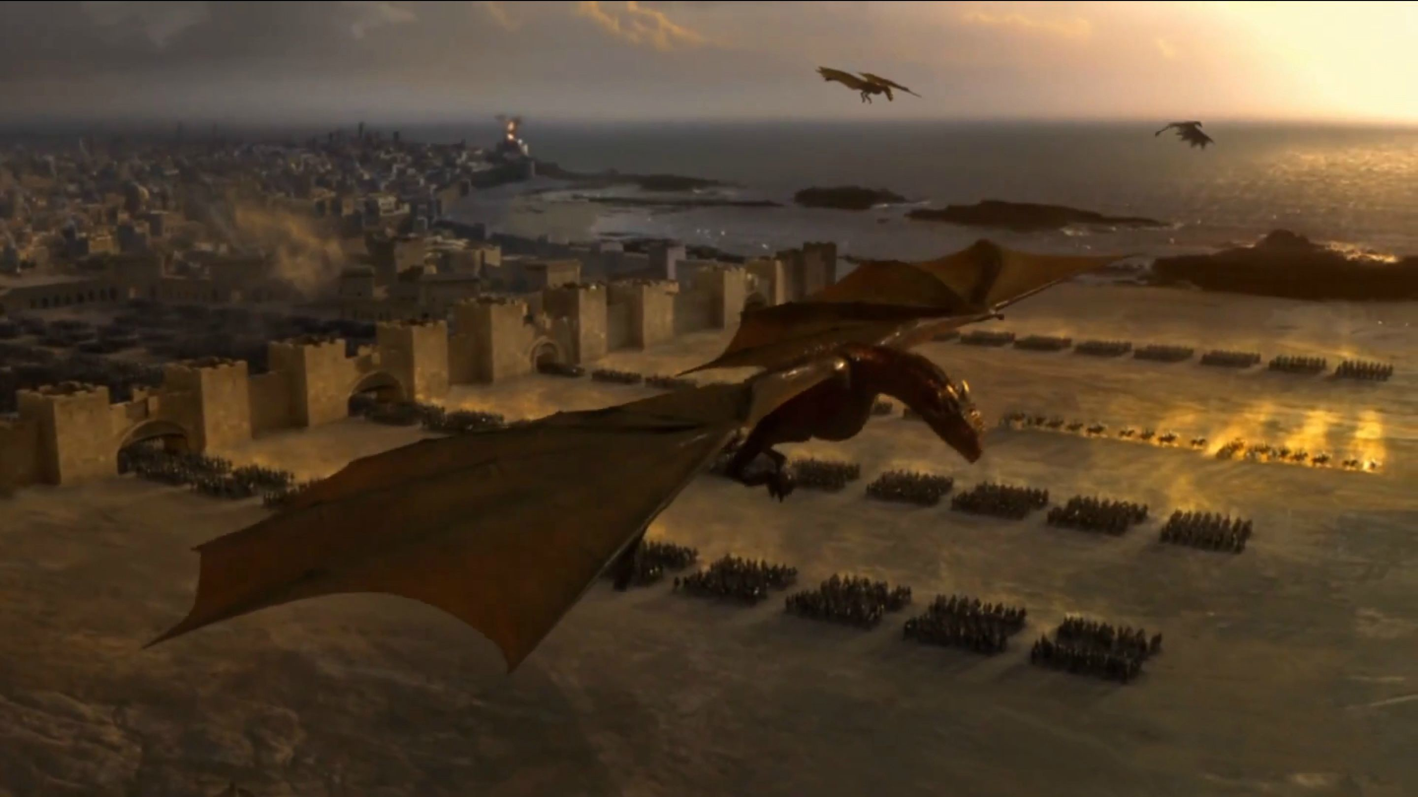 Dragons from Game of Thrones   HD wallpaper 2880x1618