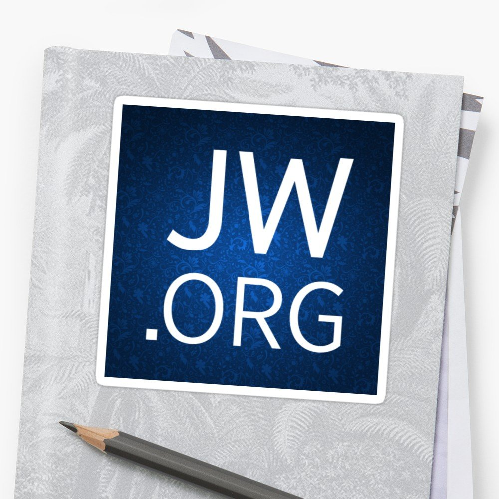 JWorg Design with Floral Background Stickers by JW Stuff Redbubble 1000x1000