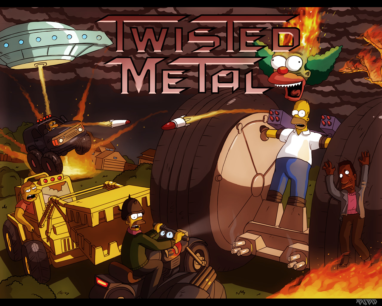 Free download Twisted Metal 2 PC Identi [1280x1024] for your