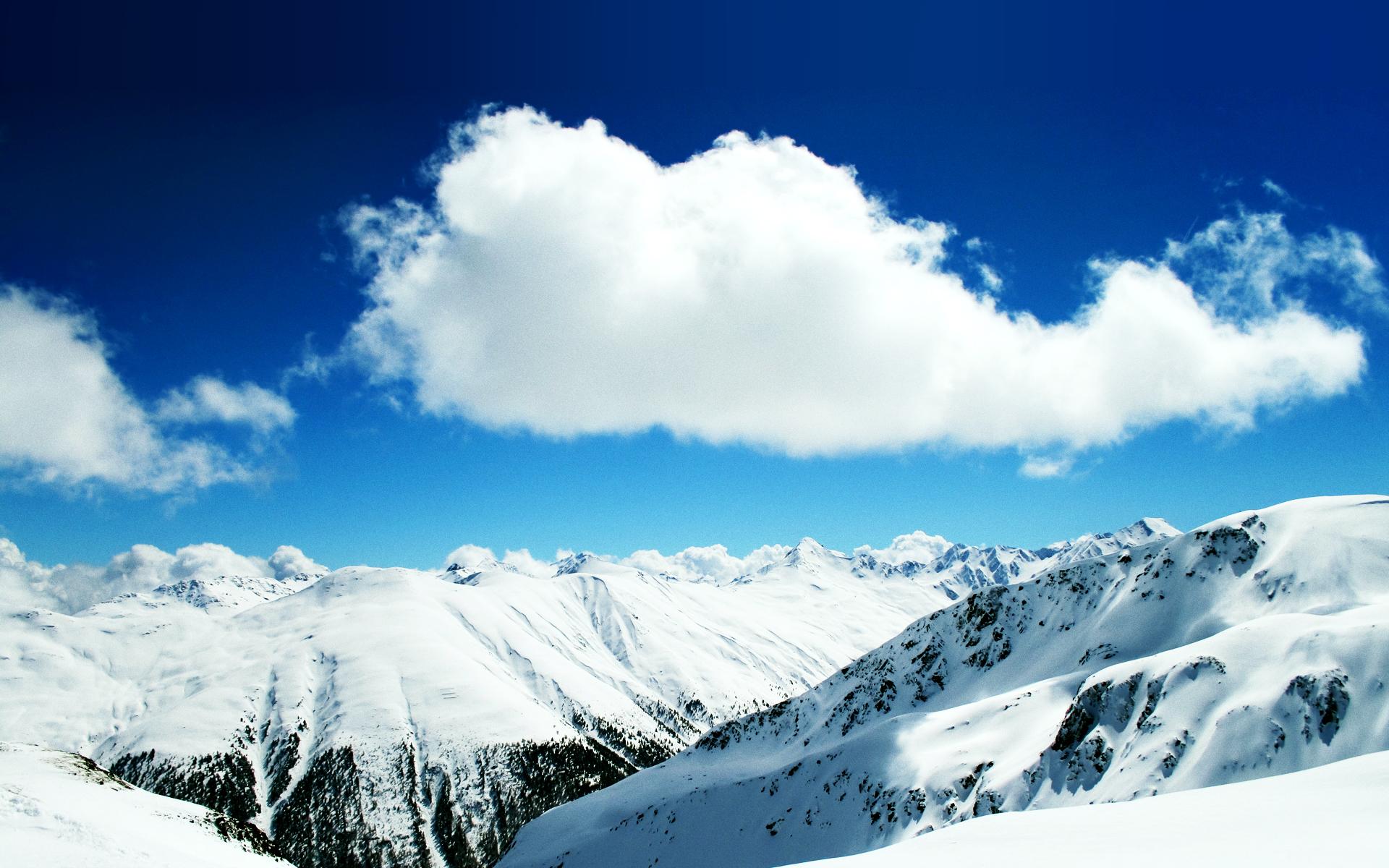 Winter Snow Mountains hdwallpapersin 1920x1200