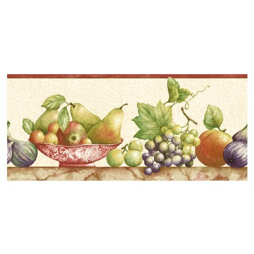 Sunworthy Fruit Watercolor Wallpaper Border EB064131B Home Kitchen 500x500