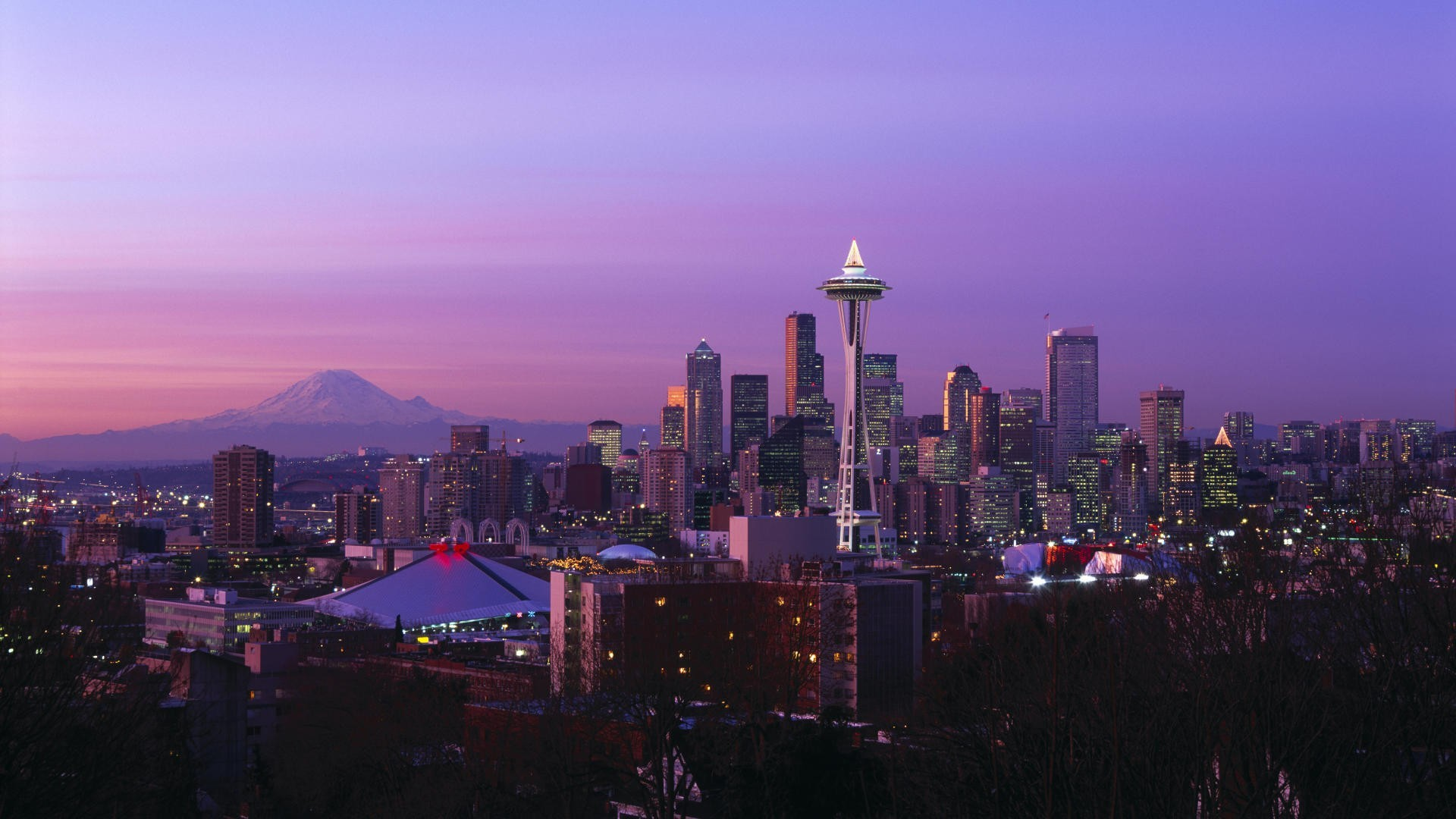 Night Seattle Wallpaper Hd