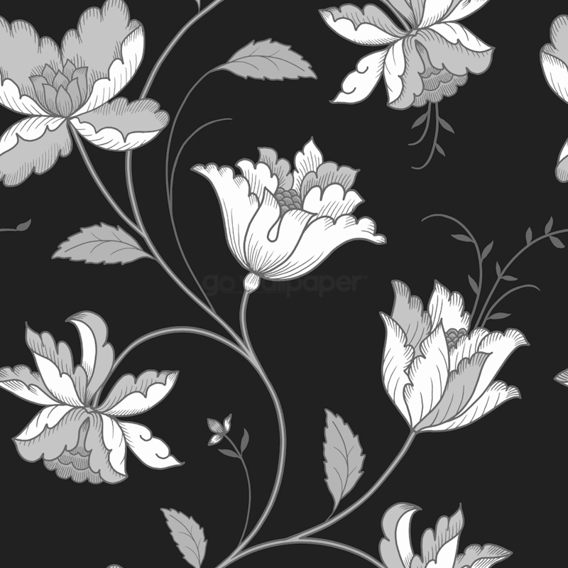 Black and white flowers wallpaper wallpapersafari black and white floral wallpaper floral wallpaper tumblr quotes for 800x800 mightylinksfo