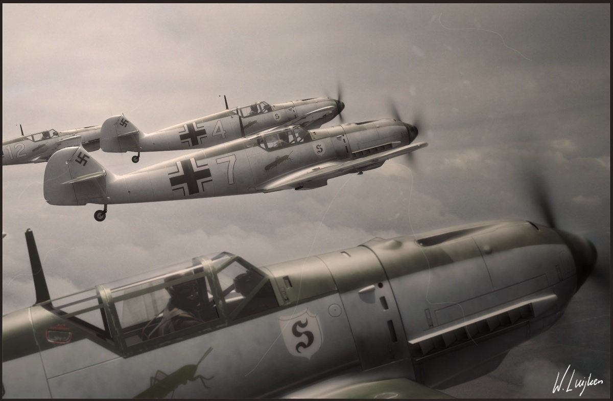 aircraft war military vintage old vehicles 109 formation HD Wallpaper 1200x784