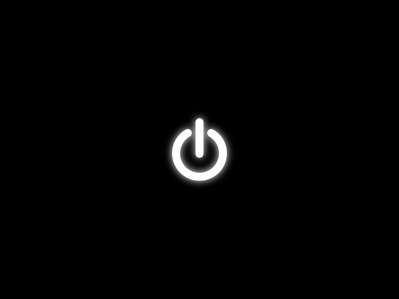 Minimal Power Button Logos HD Wallpaper My image 1600x1200