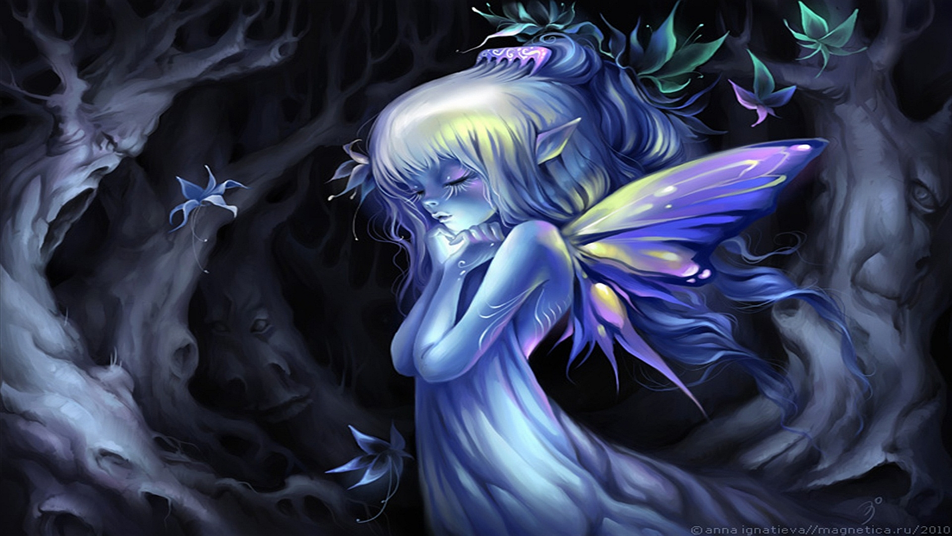 Dark Fairy Backgrounds Fantasy - fairy wallpapers and