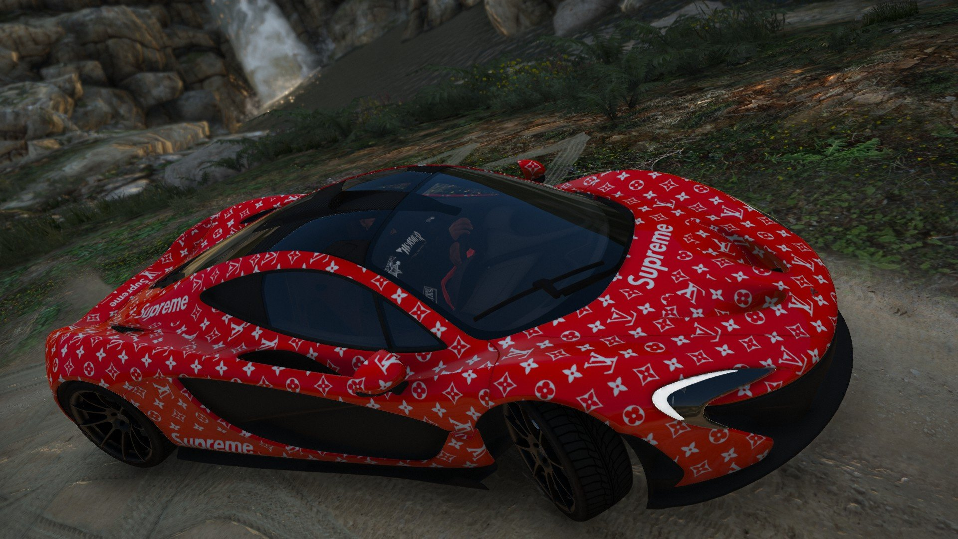 Free Download Supreme X Louis Vuitton Mclaren P1 Gta5 Modscom