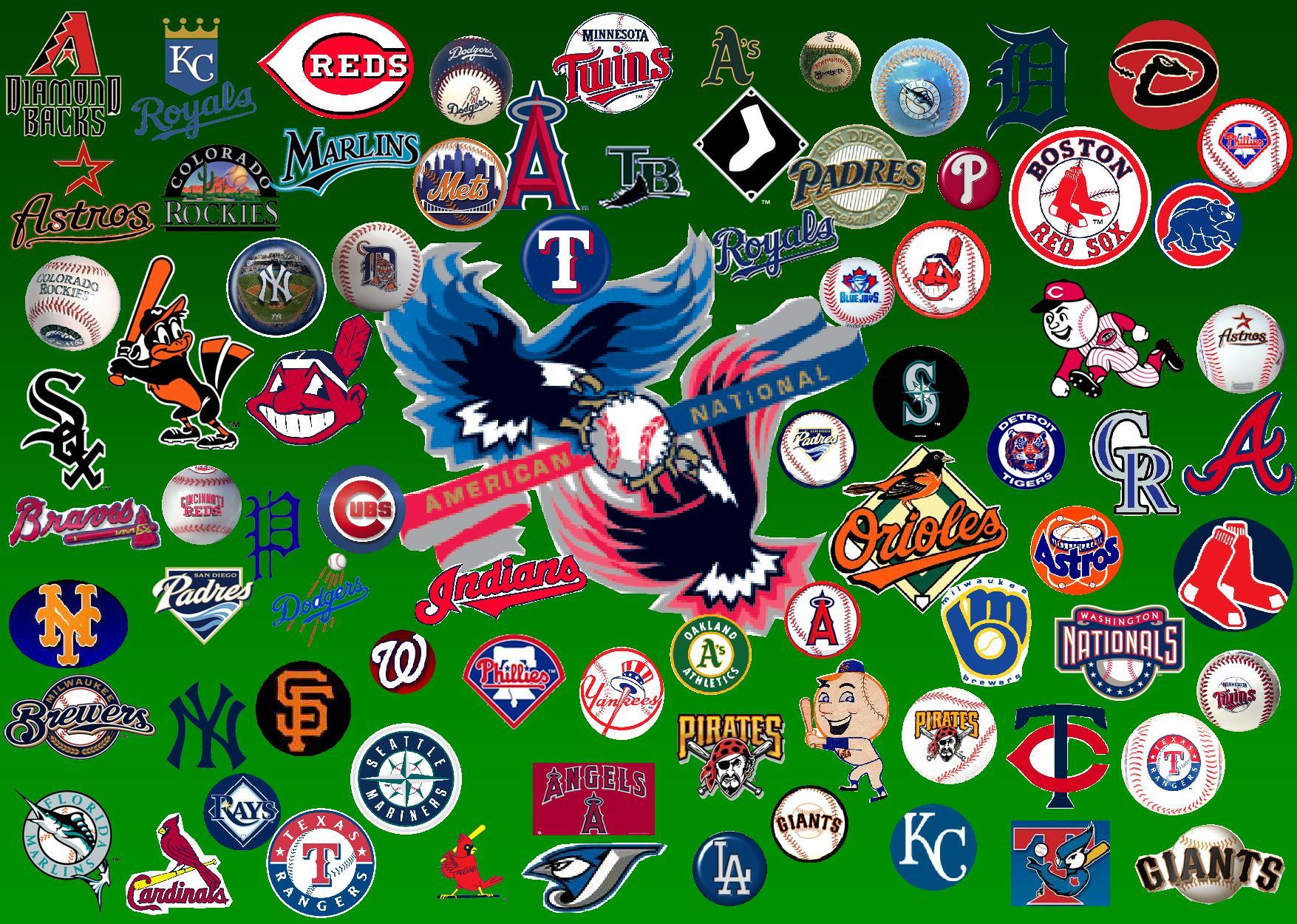 Wallpaper Baseball Desktop Wallpaper All current baseball team logos 1755x1250