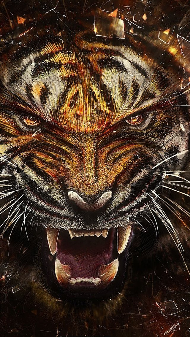 Tiger Logo Wallpaper Tiger backgrounds iphone 5s 640x1136