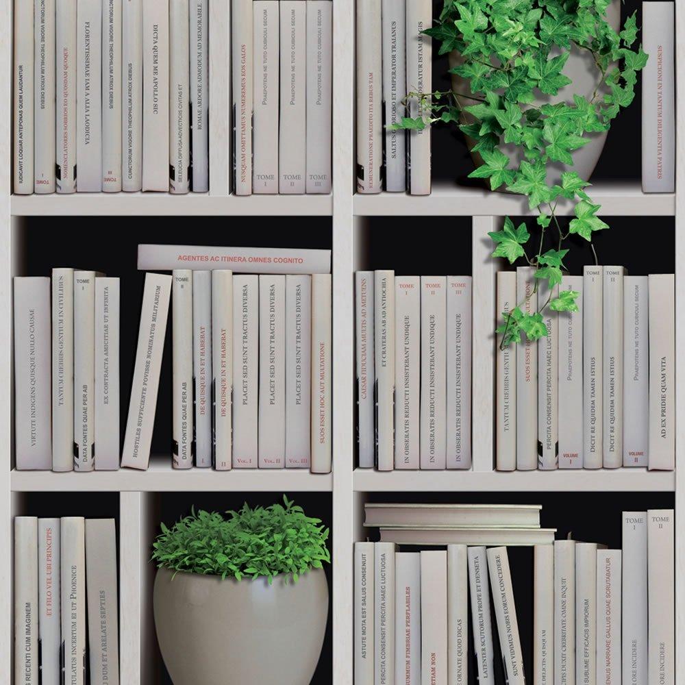 Free Download Wallpaper Muriva Muriva Bookshelves Faux