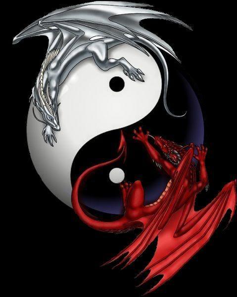 Ying Yang Dragon phone wallpaper by uzueta 479x600