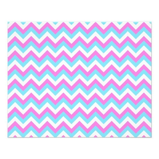 Pink and Blue Chevron Zig Zag Stripes Flyer Zazzle 512x512