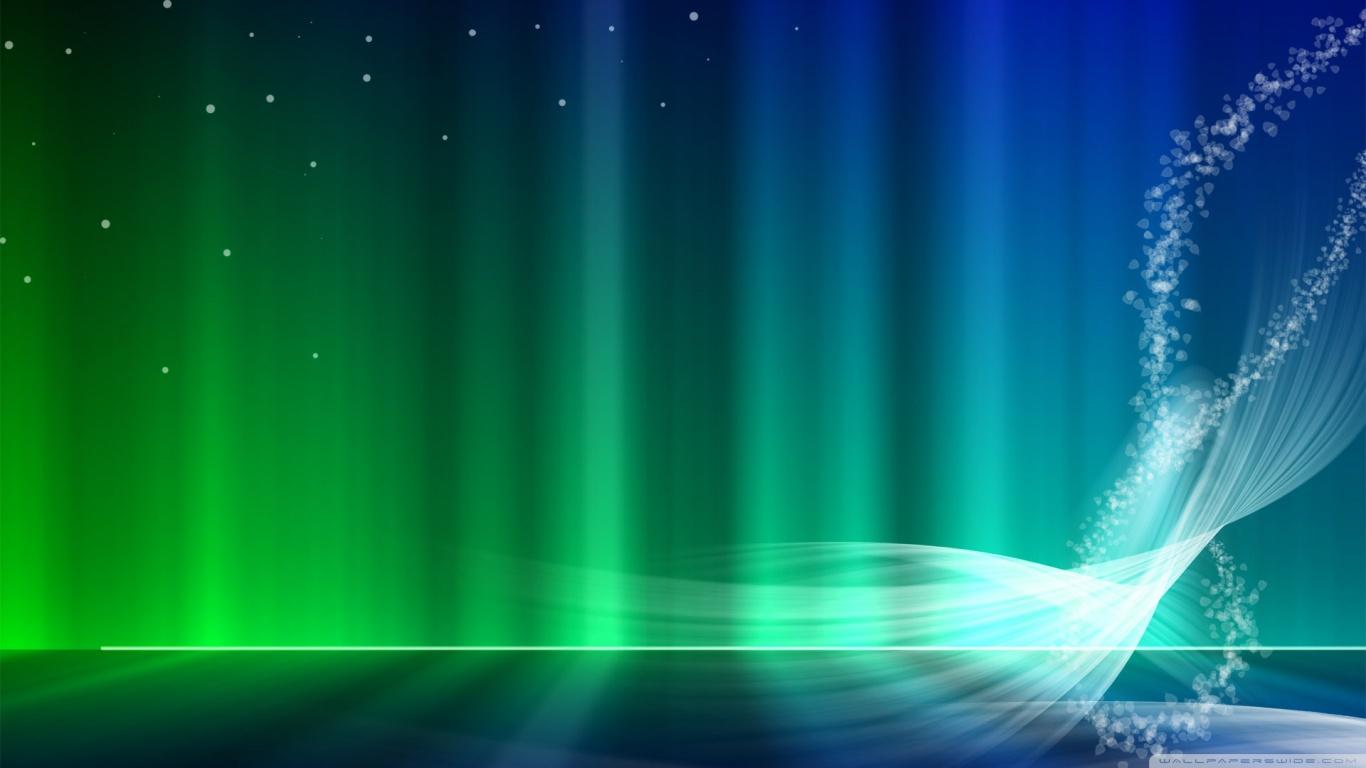 Vista Blue And Green Aurora 4K HD Desktop Wallpaper for 4K 1366x768