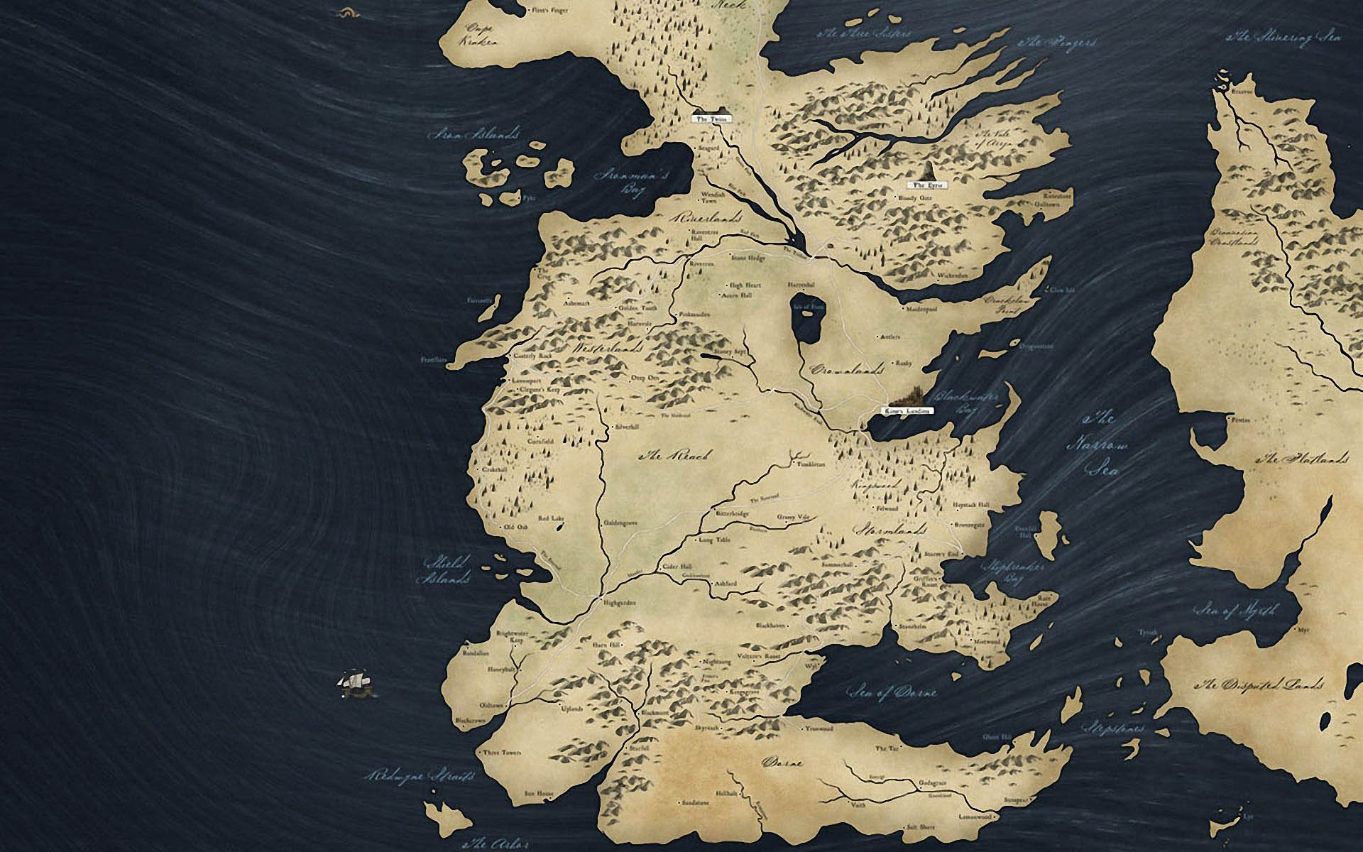 Game Of Thrones Map Wallpaper Wallpapersafari