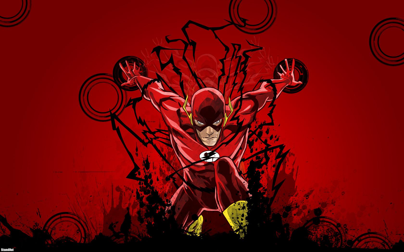 Flash Logo Wallpaper Hd Flash in the night by socketto 1680x1050