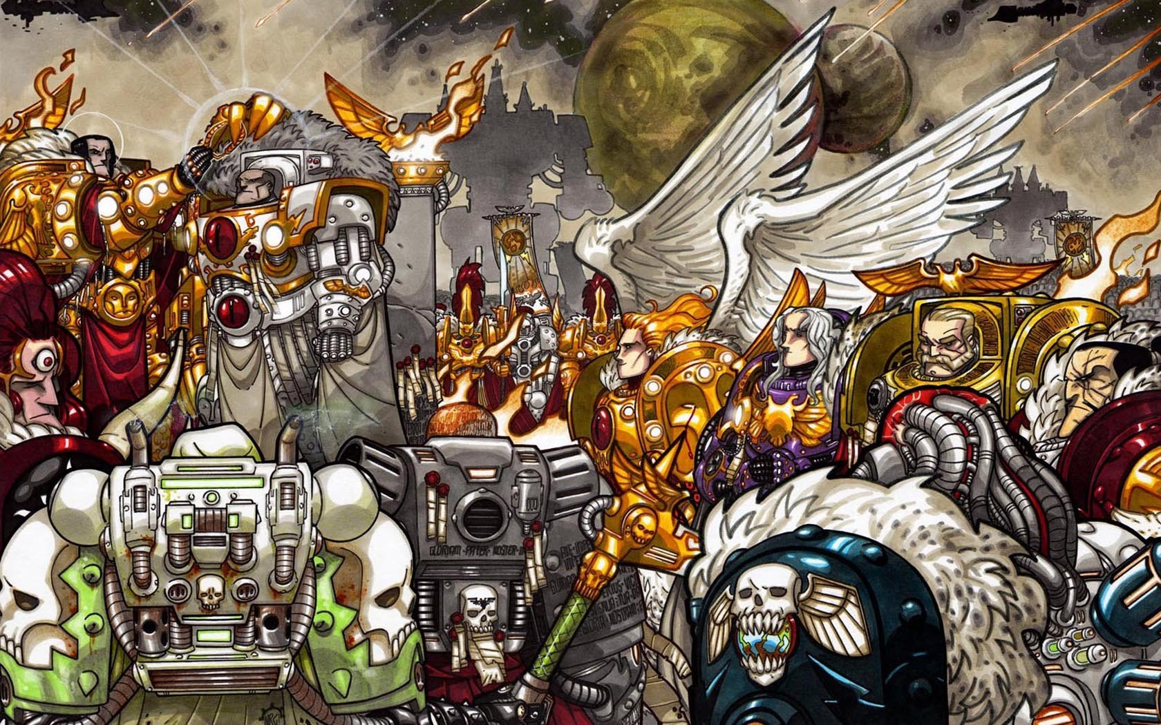 49 imperial fists wallpaper on wallpapersafari - Imperial fists 40k ...