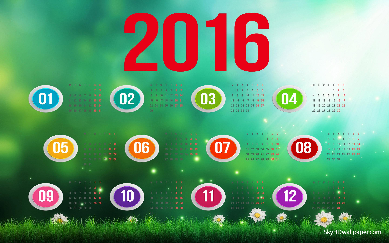 2016 Calendar Wallpaper 10 2880x1800