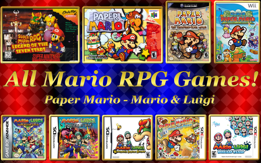 All Mario RPG Games Wallpaper 1440x900 by Baruch97 1024x640