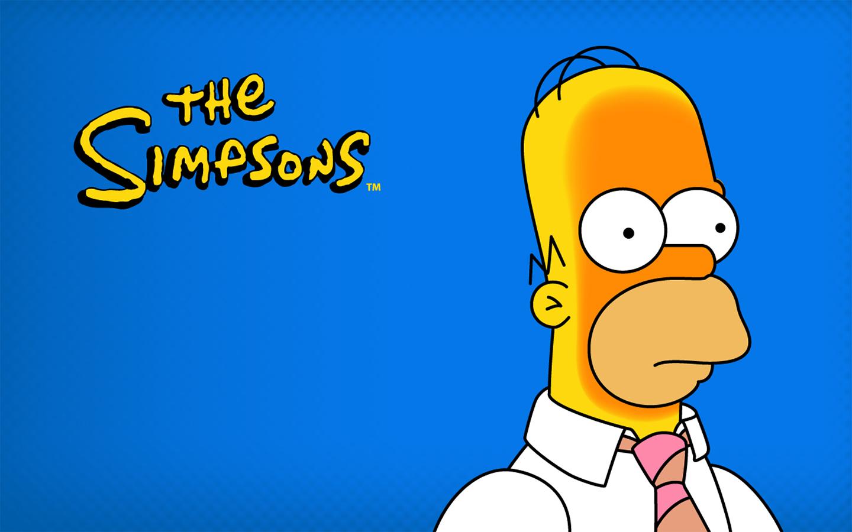 Cartoons Wallpapers   Homer Simpson Blue 1440x900 wallpaper 1440x900