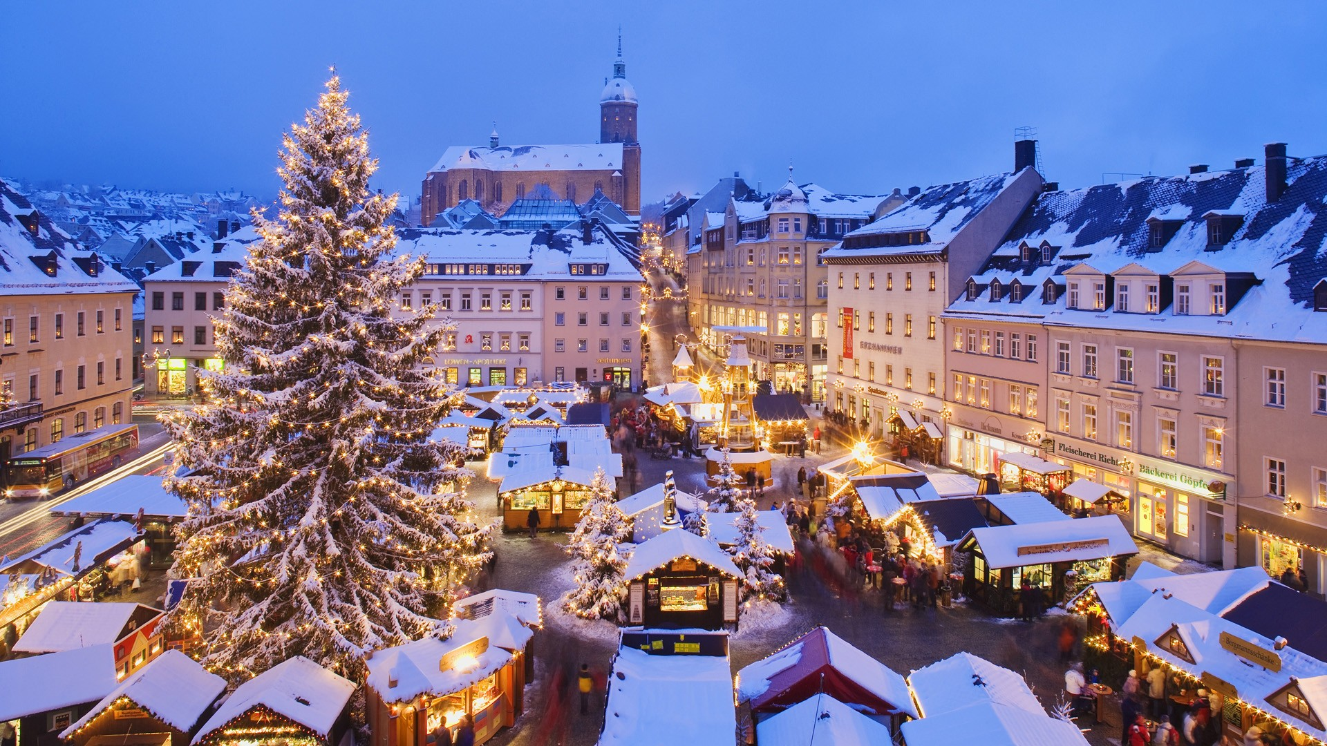 wallpaper germany christmas tree wallpapers55com   Best Wallpapers 1920x1080