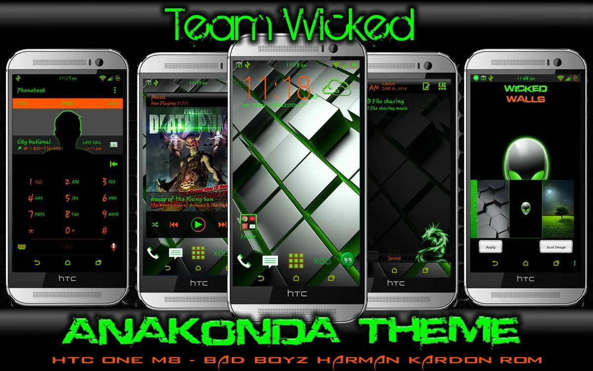 THEME] AnaKonda Theme v13   For Sprint HTC One M8 XDA 1200x750