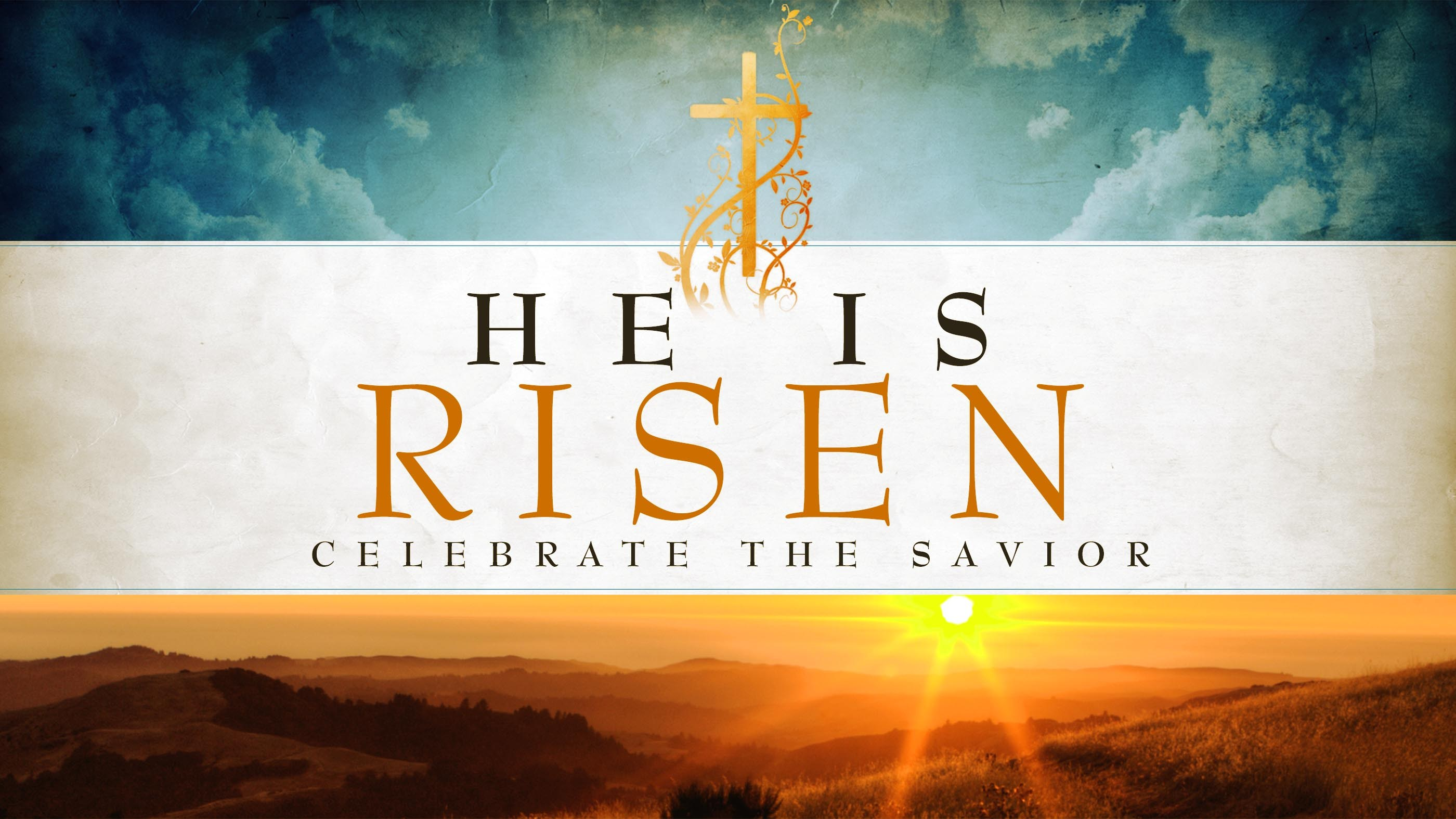 Happy Easter Jesus Resurrection Risen Hd Wallpaper Background 2800x1575