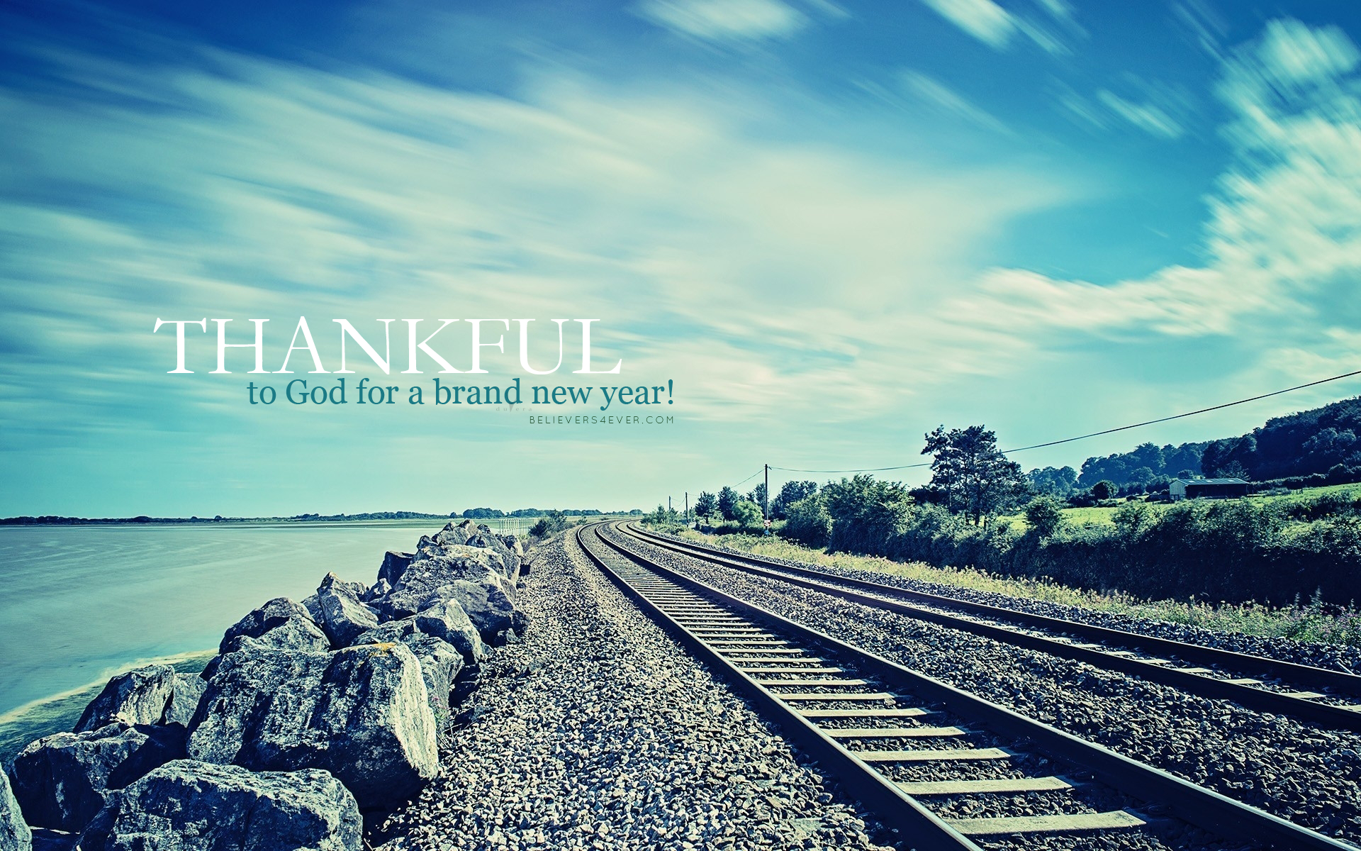 Thankful new year 2015 Christian wallpaper 1920x1200