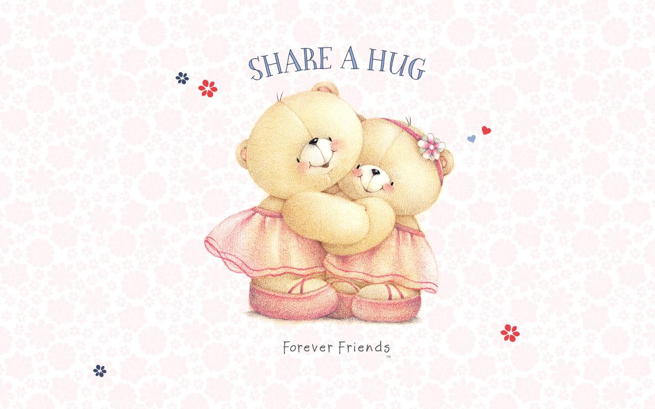 teddy wallpaper hug Forever Friends Bears Pint 1280x800