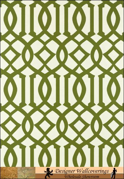 Dinas Deco Lattice   Green [NEW 10052] Designer Wallcoverings 397x575