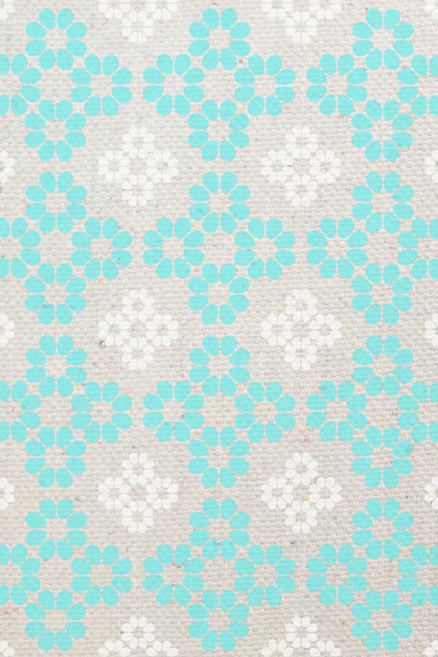 Free Download Backgroundswallpapers Patternlinen Flower Aqua