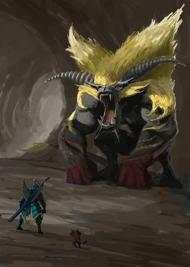 Free Download I Painted A Rajang Monsterhunter 769x1080 For Your