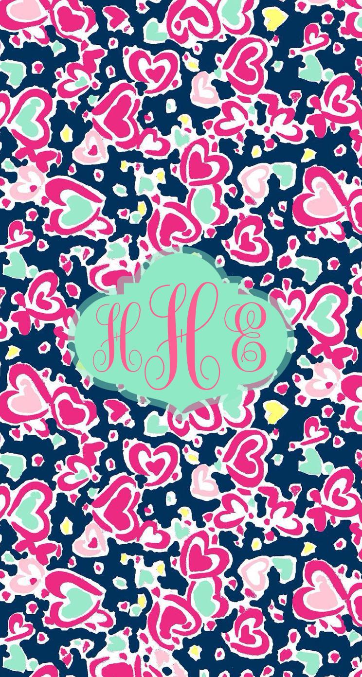 Floral monogram iphone background i p h o n e W a l l p a p e r 744x1392