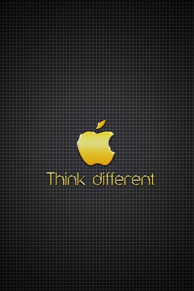 Golden Apple Think Different Iphone 4 Wallpapers 640x960 Hd 640x960