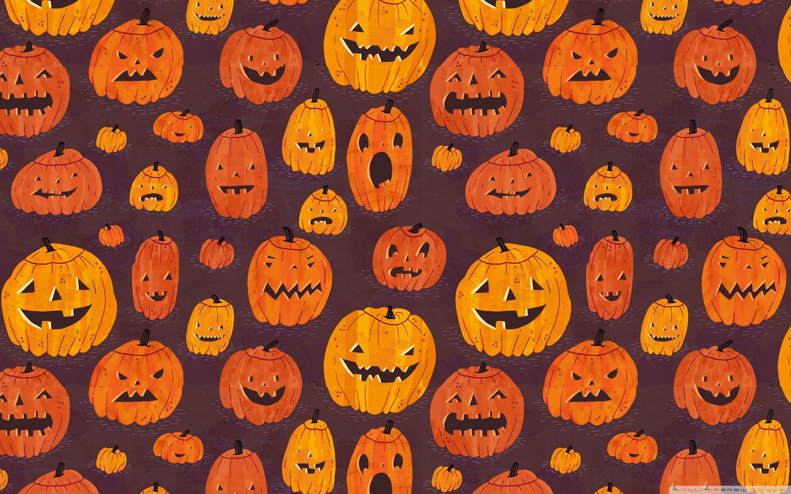 60 Cute Halloween Pattern Wallpapers   Download at WallpaperBro 2560x1600