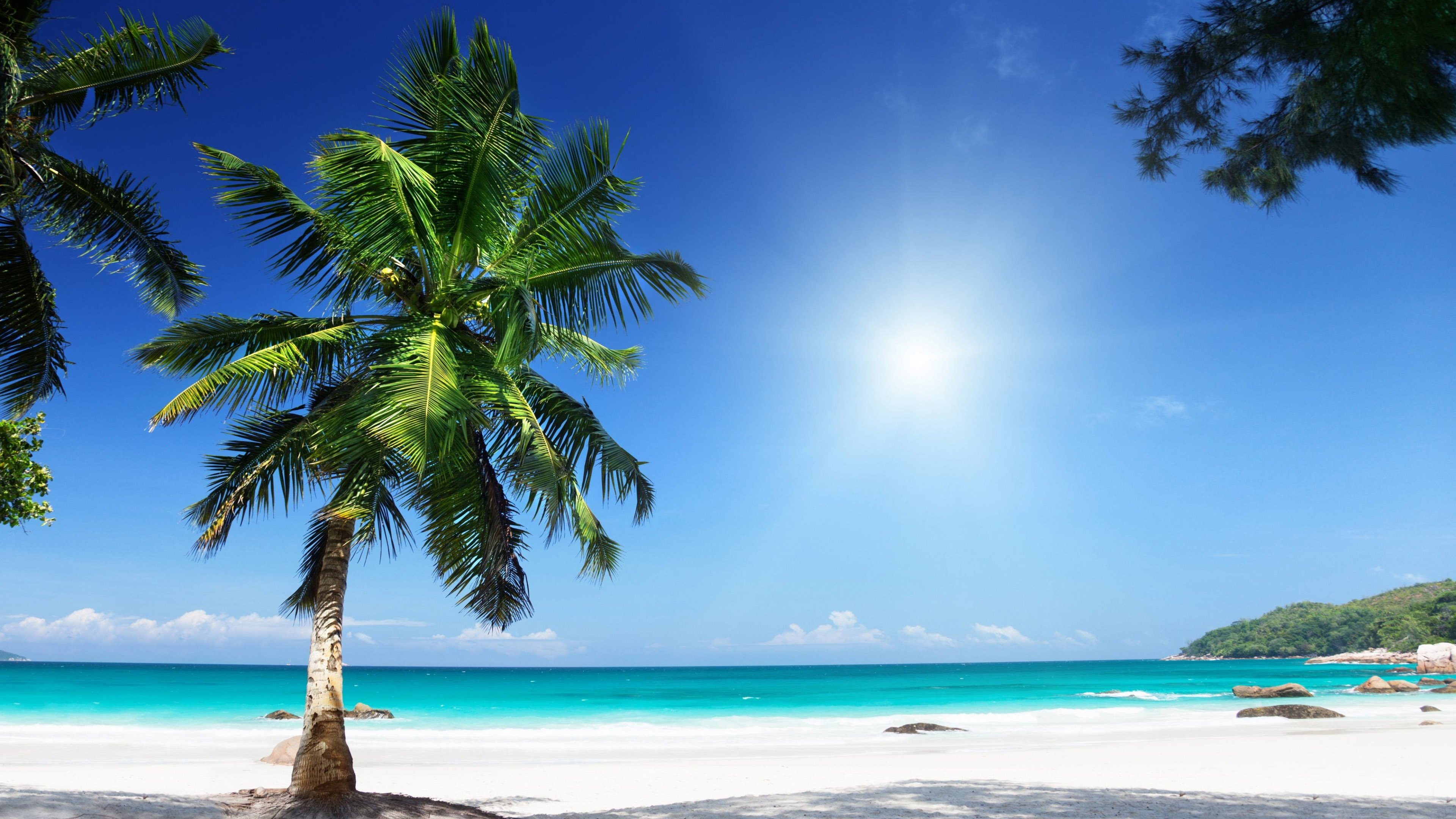 Hd Tropical Island Beach Paradise Wallpapers And Backgrounds: 3840X2160 Wallpaper