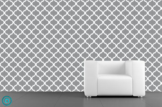 Removable Wallpaper  Moon Lattice Grey   Peel Stick Fabric Temporary 570x378