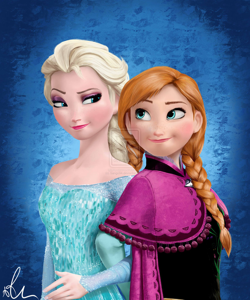 Elsa and Anna   Frozen by Sango94 816x979