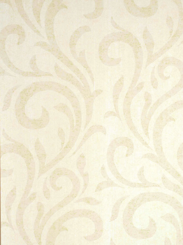 Cream Faded Leaf Swirl Wallpaper   Contemporary Modern Wallpaper 720x960